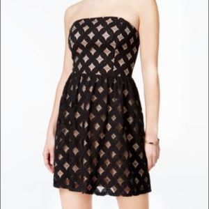 Black and nude Jump Dress